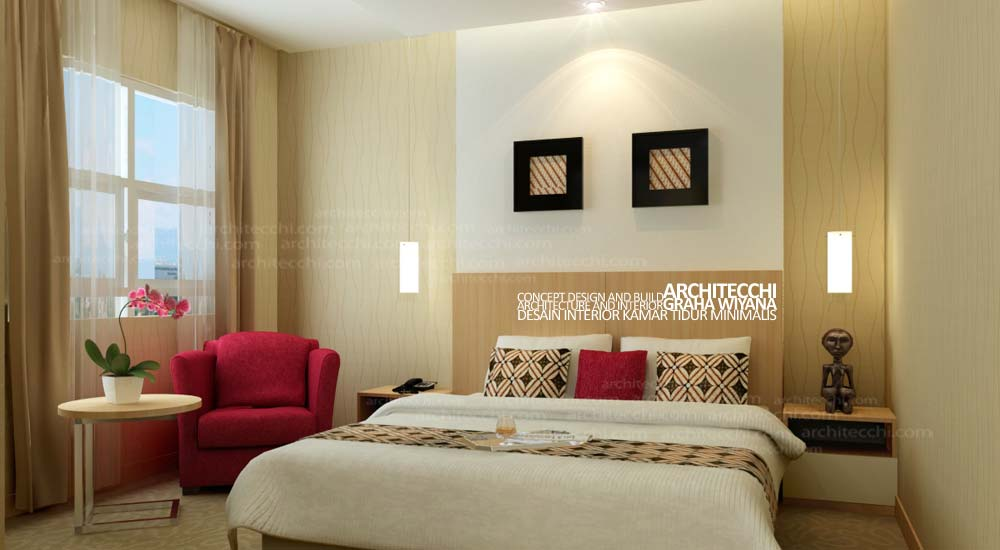 desain interior kamar tidur minimalis mencuat dot com