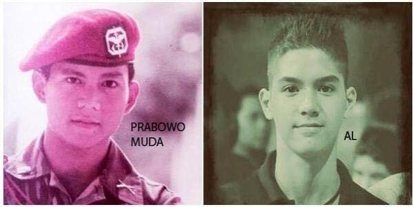 Foto Prabowo muda Mirip dengan Al