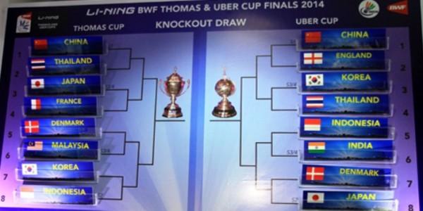 Jadwal Thomas Dan Uber Cup 2014 Babak Perempat Final