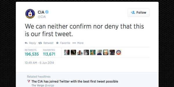 alamat akun twitter dan facebook CIA