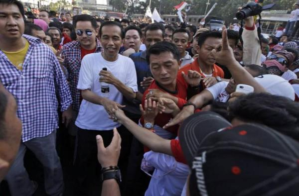 Foto Jokowi di Car Free Day