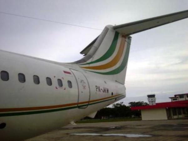 Foto pesawat pribadi JK bagian luar