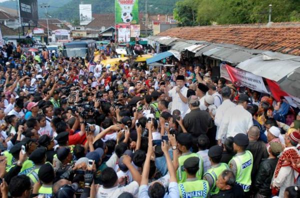 Foto Prabowo saat Orasi kampanye