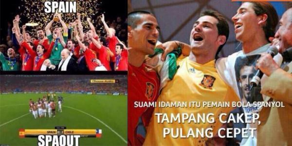 Gambar lucu Spanyol gagal di Piala dunia 2014
