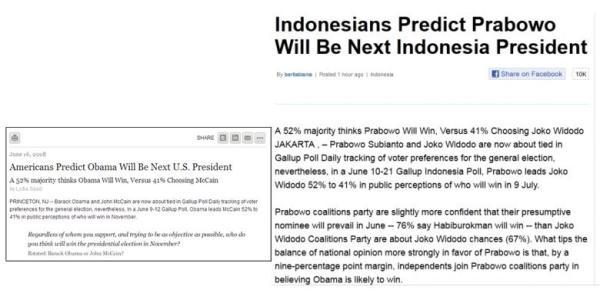 Hasil Survey Palsu di cnn yang memenangkan Prabowo