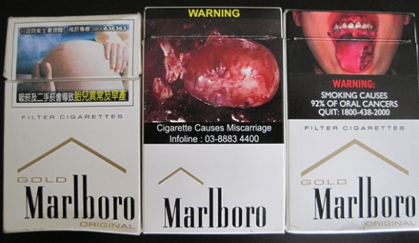 Peraturan gambar di bungkus rokok