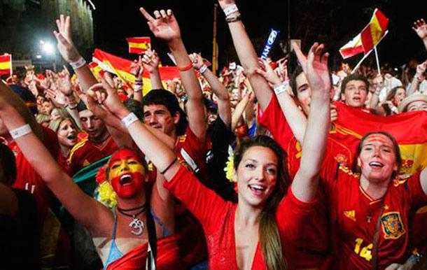 Suporter Spanyol