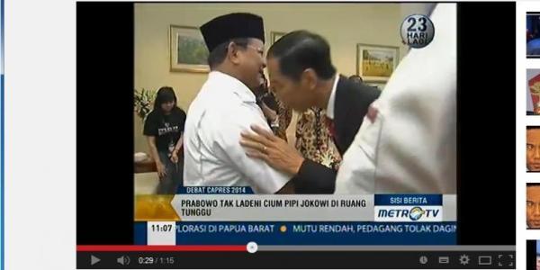 Video Prabowo Tolak Cipika Cipiki Jokowi