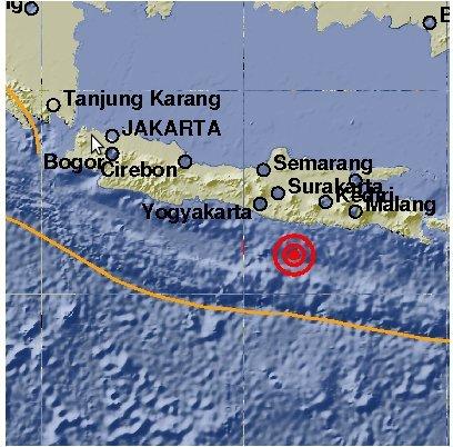 Gempa Pacinta hari ini Senin 14 Juli 2014