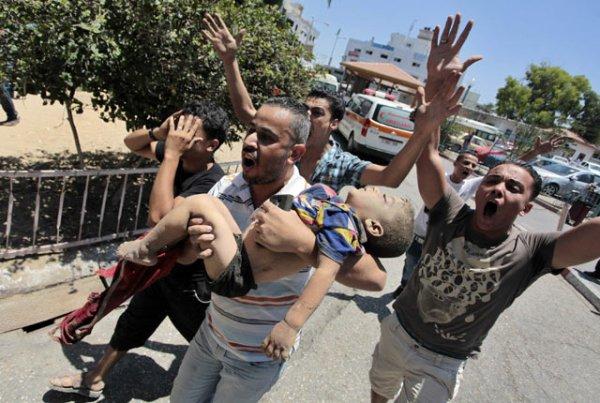 Foto kekejaman perang di jalur Gaza antara Israel dan Palestina