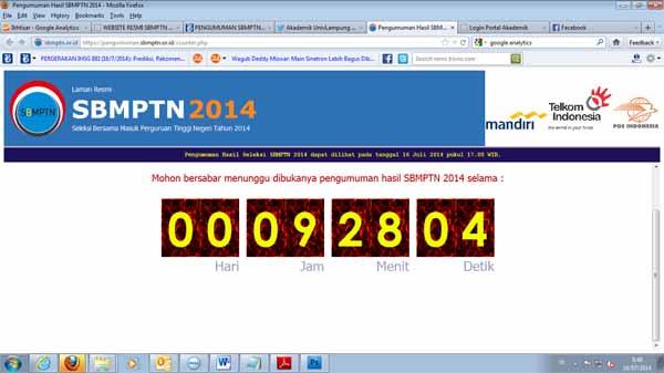 Cara Cek Hasil SBMPTN 2014 di www.sbmptn.or.id