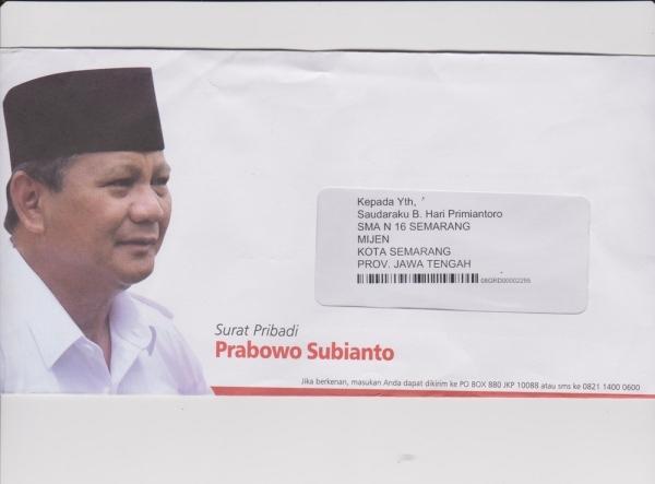 isi Surat Cinta Prabowo kepada Guru