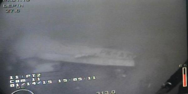 Foto bangkai Pesawat AirAsia